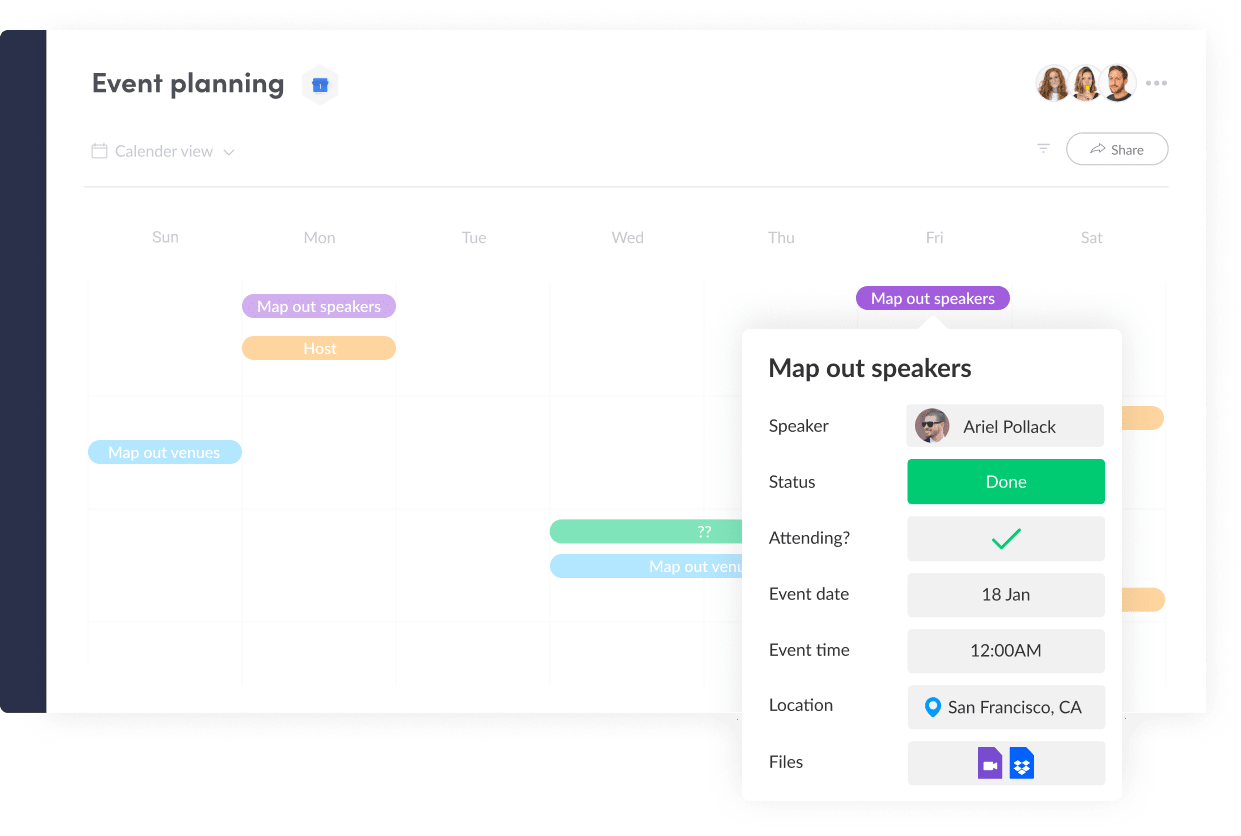 Manage Events with monday.com's Creative Project Management Software