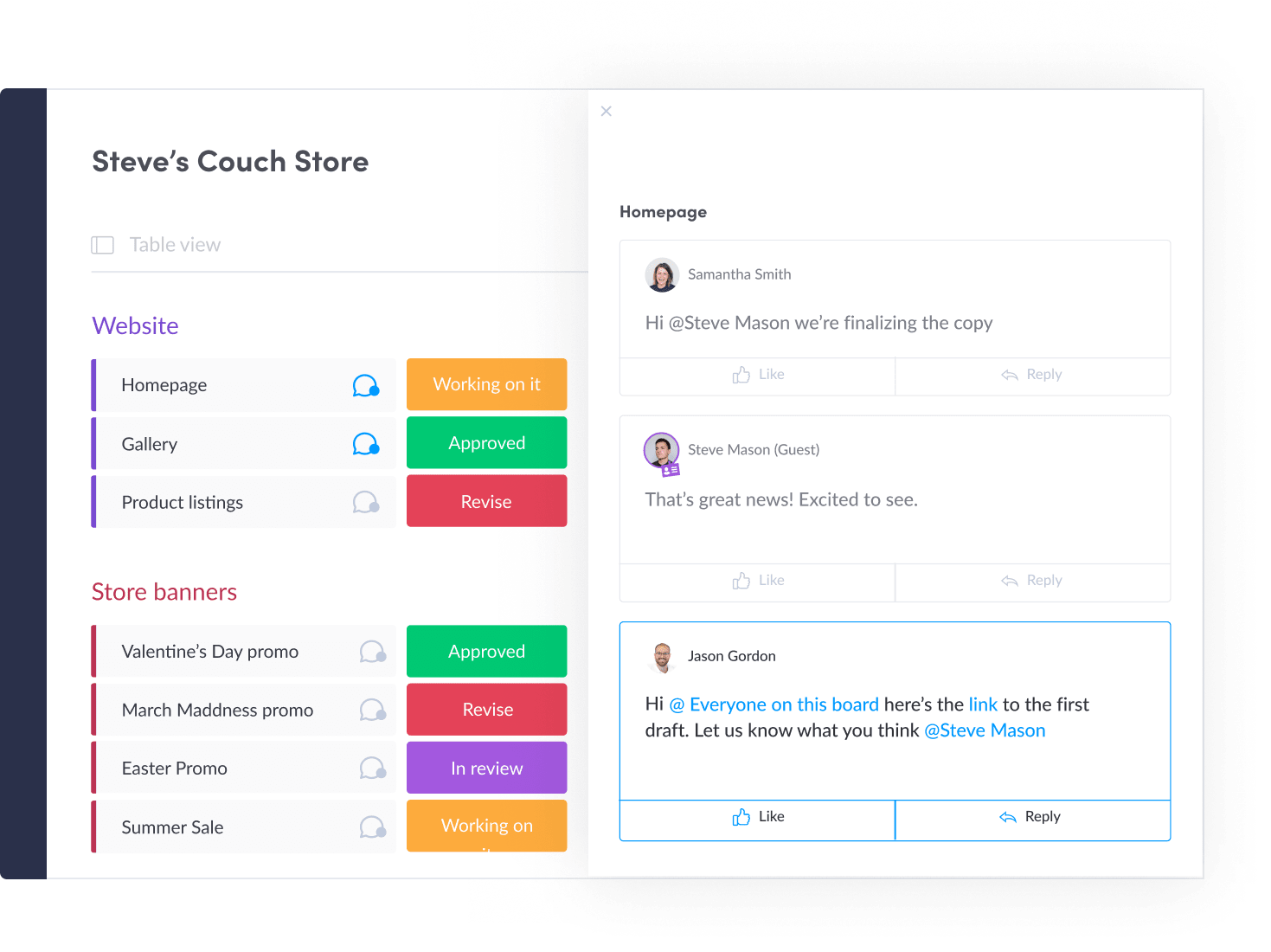 Receive Feedback with monday.com's Creative Project Management Software