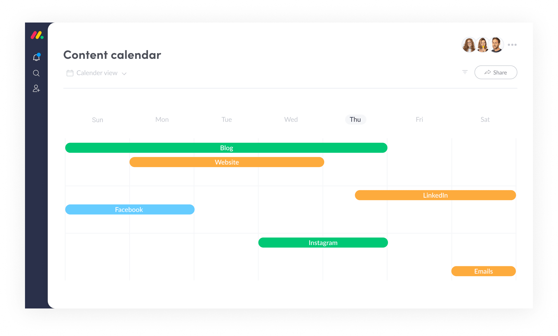 Manage your Editorial Calendar with Marketing Management Software