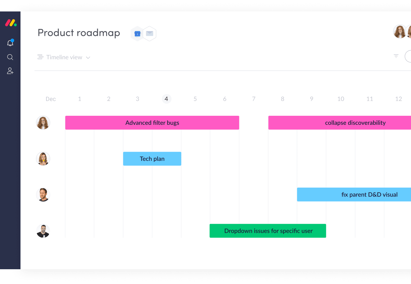 Managing Product Roadmaps with monday.com's Software Development Tool