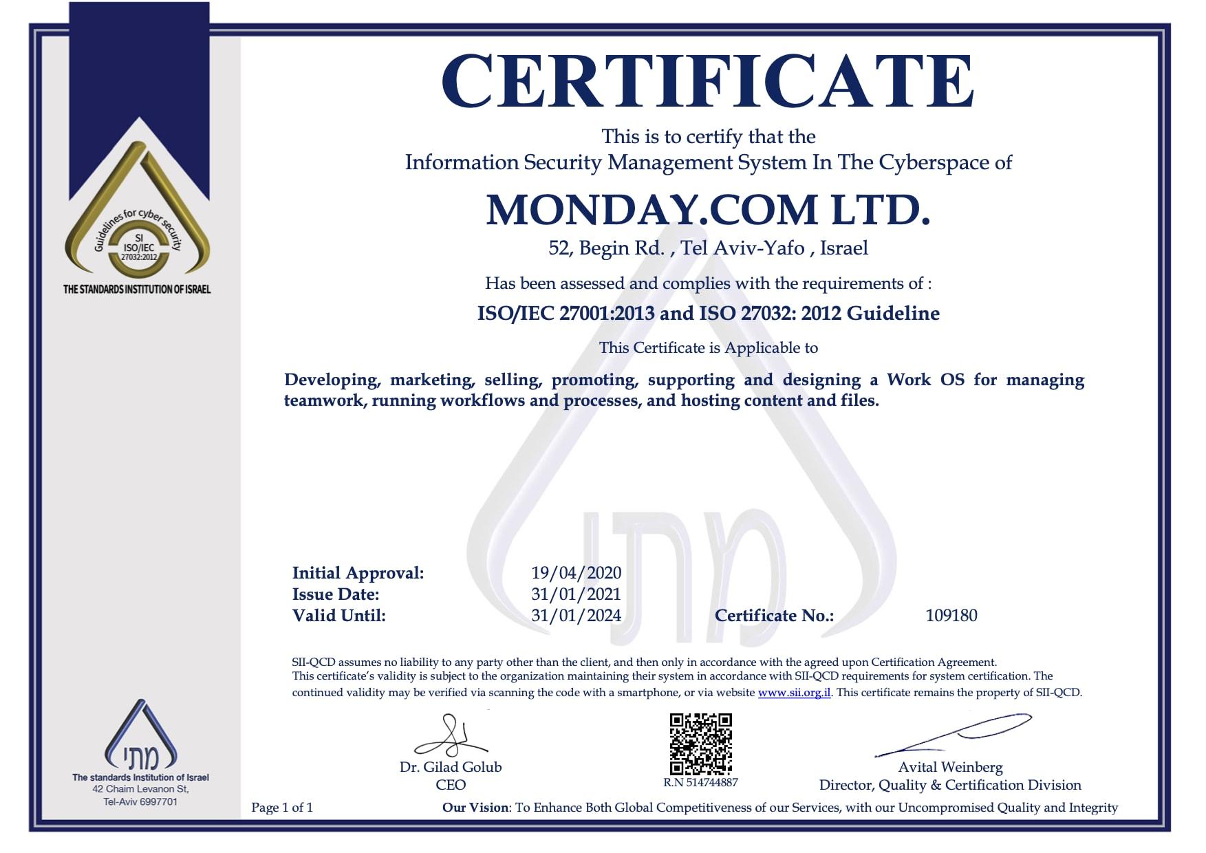 MONDAY.COM LTD. 27032