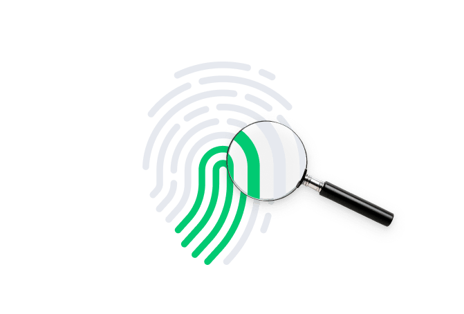 finger print with magnify glass