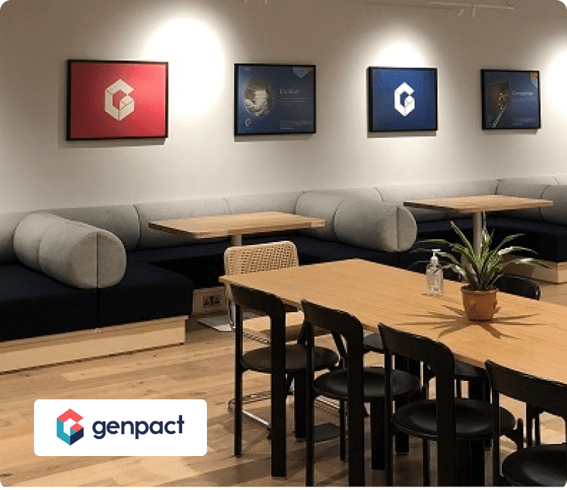 Genpact office with logo