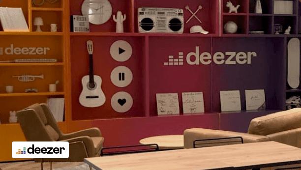 Deezer office with logo