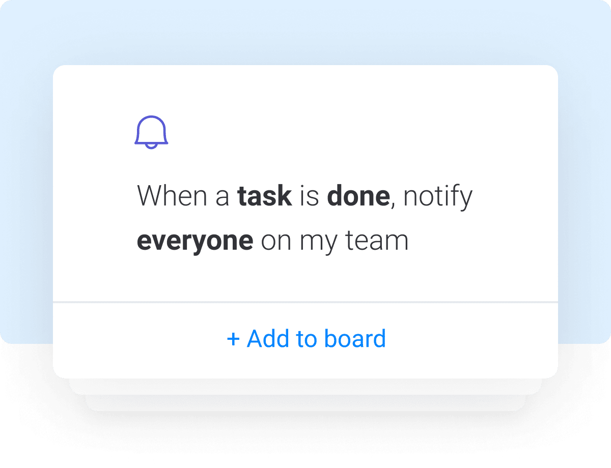 notify all team members when task is done automation