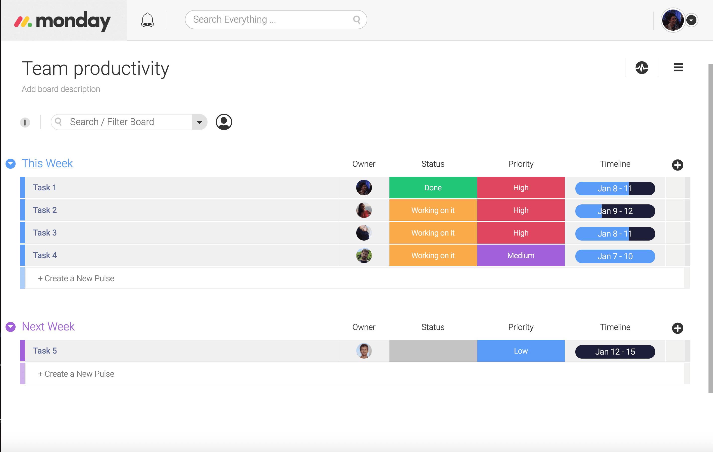 digitalize team tasks productivity