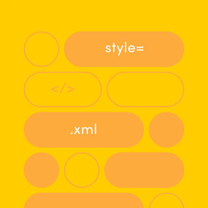 orange background with dark orange developer components