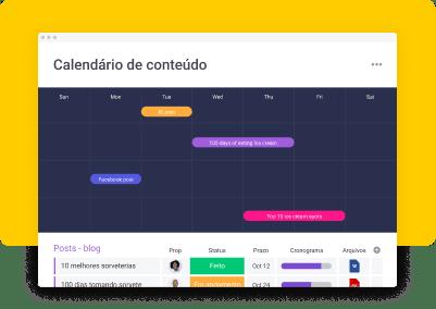 Calendário de conteúdo