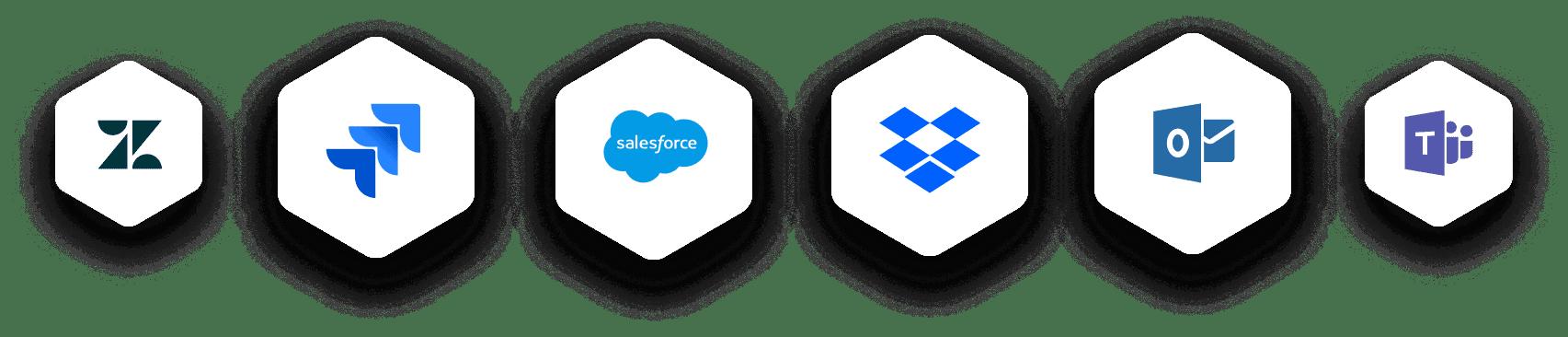 logos of tools like zendesk and salesforce