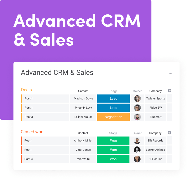 Advanced CRM