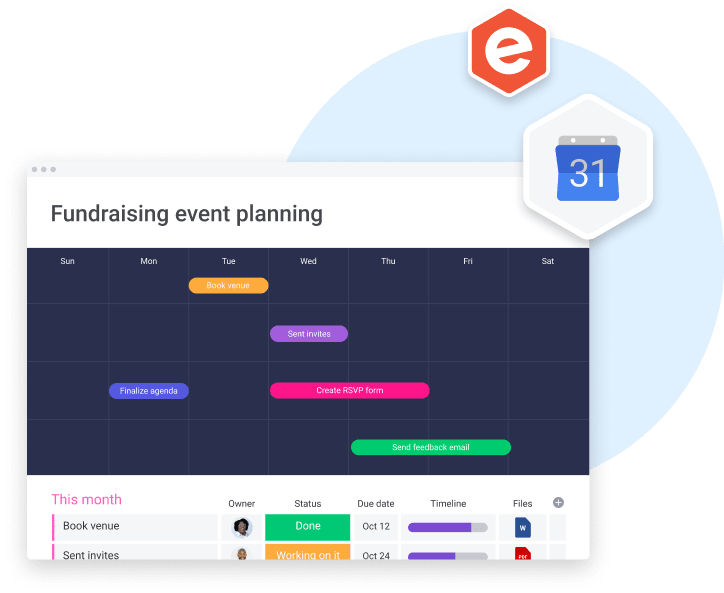 Event planning board