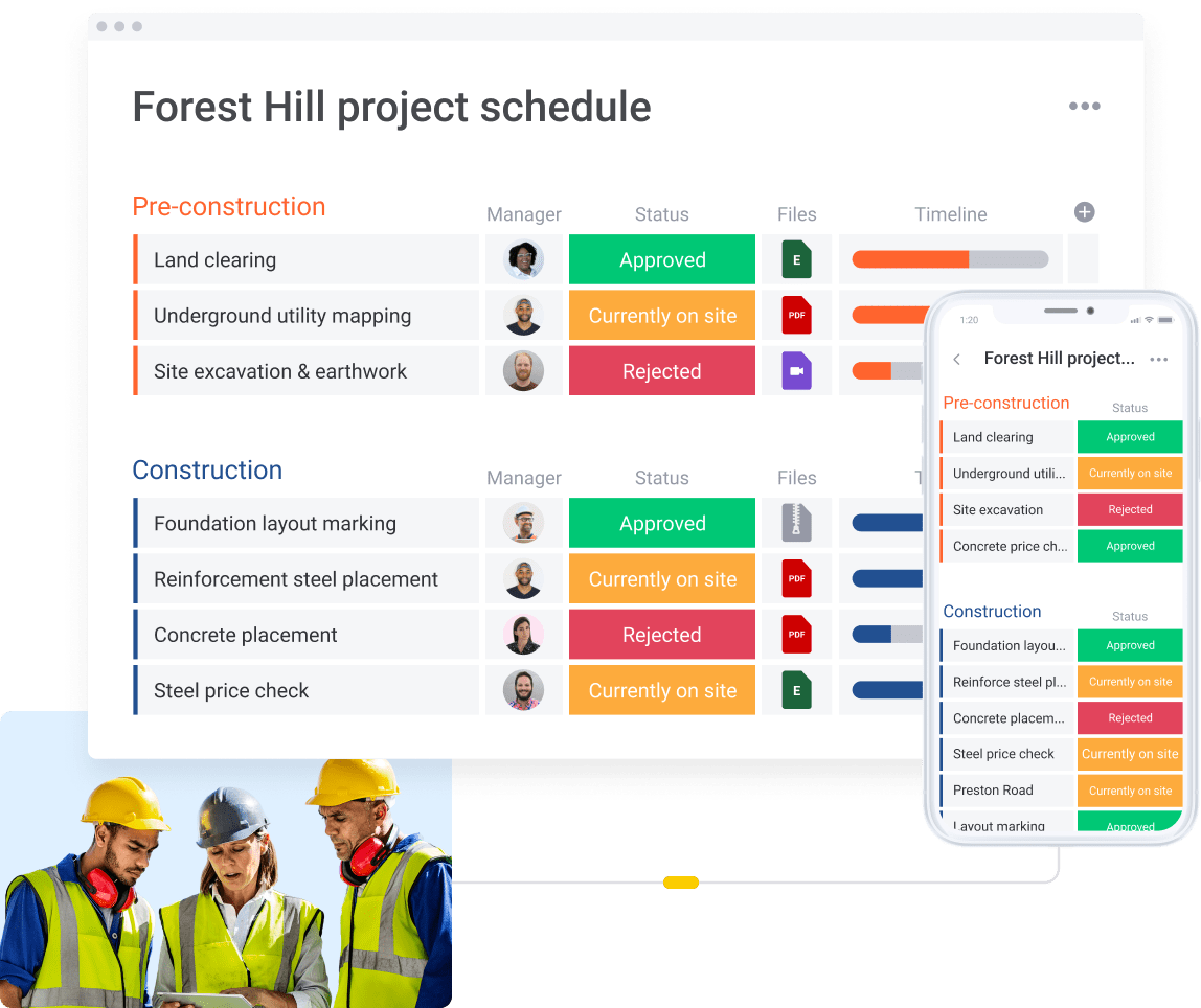 Forest Hill project schedule
