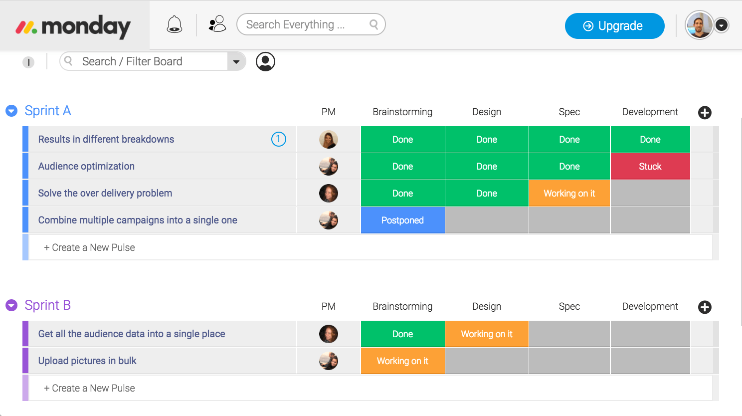 agile management template