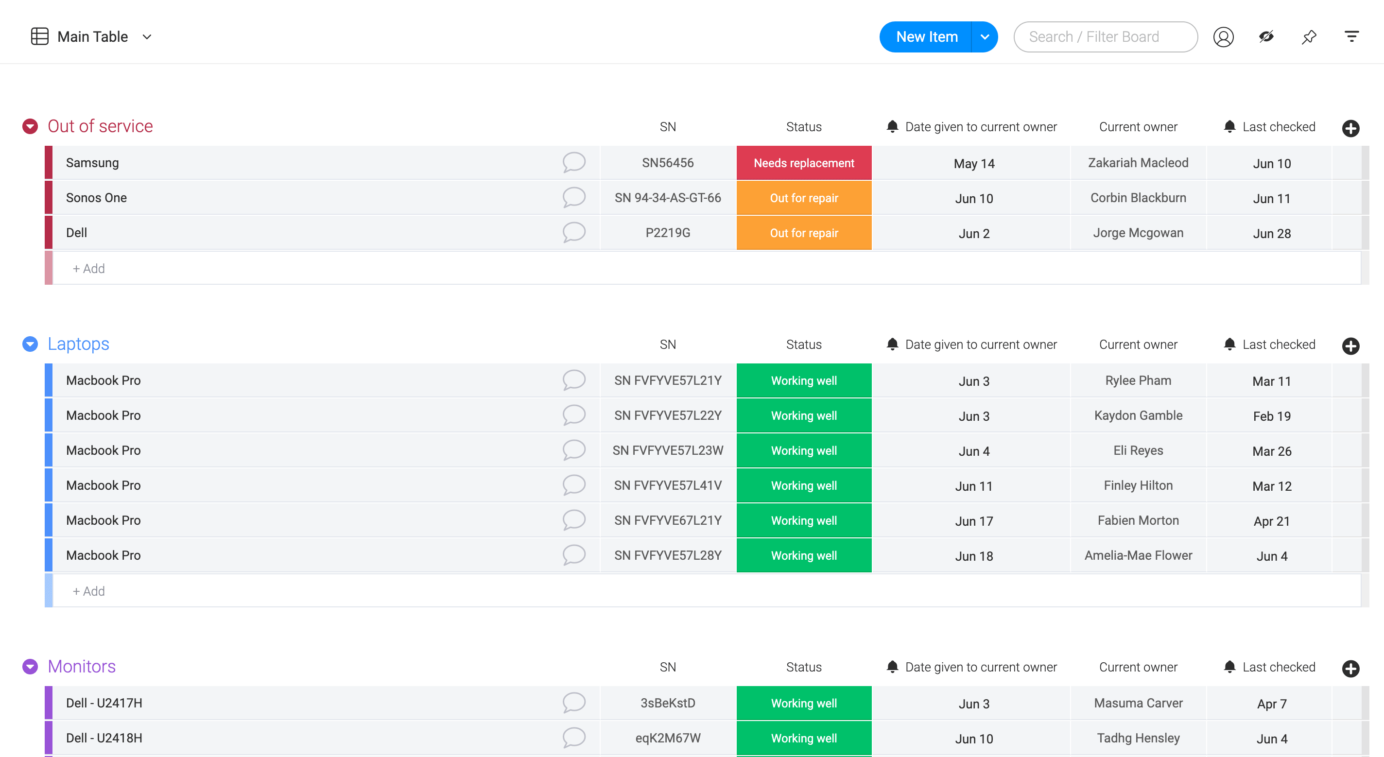 Track your inventory with ease