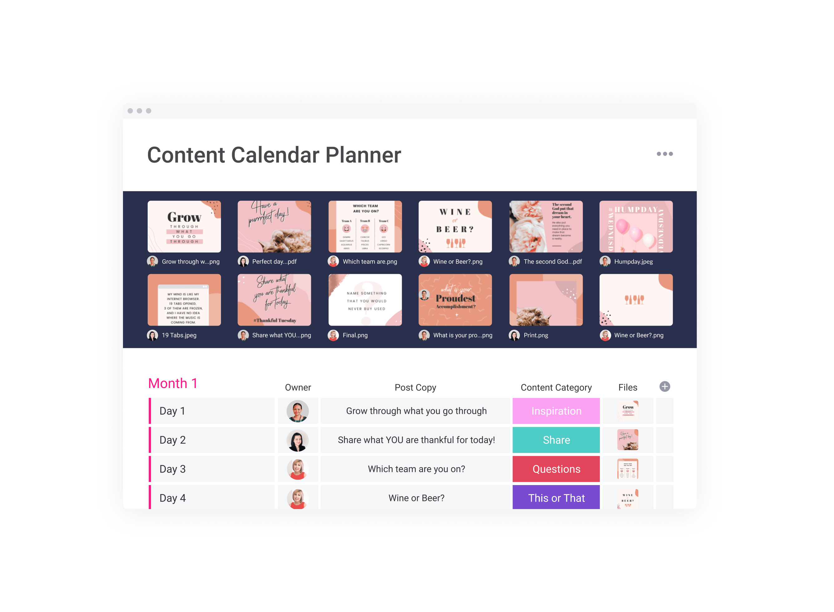 Kim Garst Content Calendar