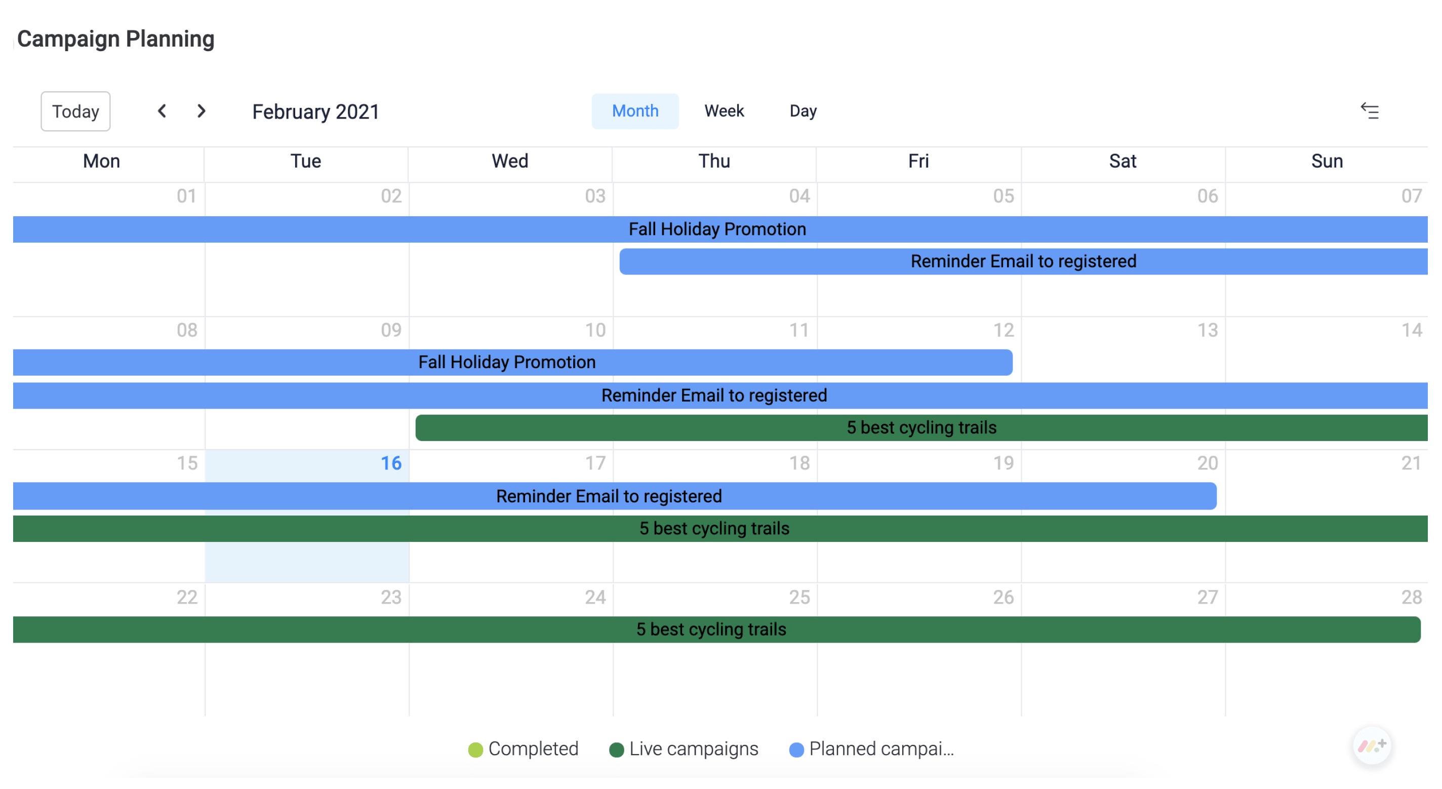 Event Campaign Calendar