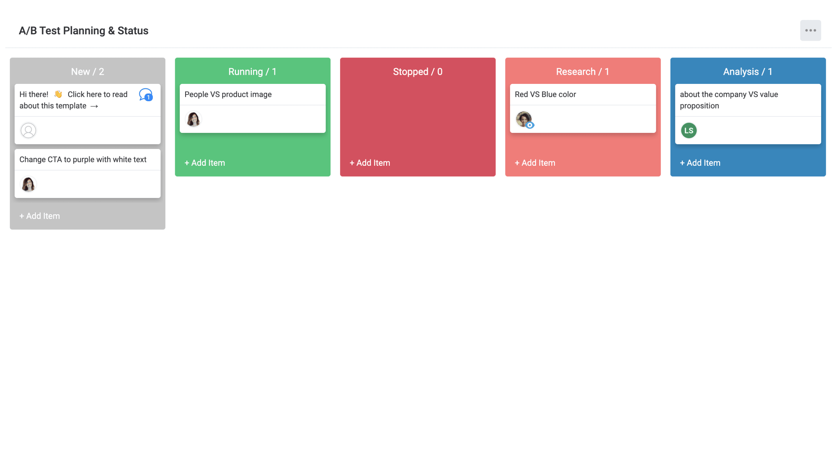 Kanban to visually plan new tests with your team